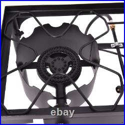 150000BTU Portable Propane Double Burner Outdoor Camping Cooking Stove BBQ Grill