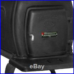 1600 Sq. Ft. EPA Certified Cast Iron Wood Burning Stove Fireplace Heater Indoor