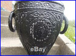 1890s ORNATE CAST IRON PARLOR HEATING STOVE 40TALL CENTRAL OIL GAS STOVE CO