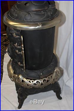 1899 Antique C. Emrich Florence No. 25 Pot Belly Cast Iron Stove Columbus ohio