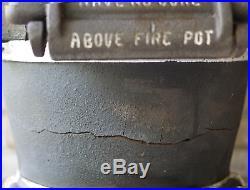 1905 Antique Estate No 249 Railroad Rr Caboose Cast Iron Stove Train Pot Belly