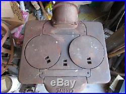 1920's Columbus Ironworks Tandy Cast Iron Coal/Wood Stove Heater