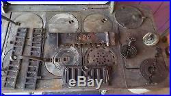 1929 antique Royal Baker cast iron kitchen wood stove 61h x 44w x 29 deep