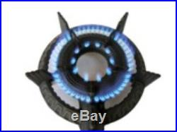 1 Ring LPG Gas Burner Cast Iron Cooker Hose Regulator BBQ Camp Stove Wok Outdoor