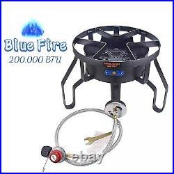200,000BTU High Pressure Cast Iron Camping Outdoor Propane Grill Burner Stove