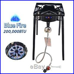 200,000BTU Outdoor Camping Portable High Pressure Gas Burner Stove Cooker Square