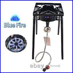 200,000BTU Outdoor High Pressure Propane Burner Stove Adjustable Fry Grill Stove