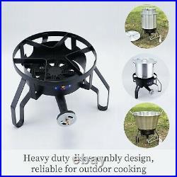 200,000BTU Portable Outdoor Single Gas Cooktops Propane Burner Stove Fry Griddle
