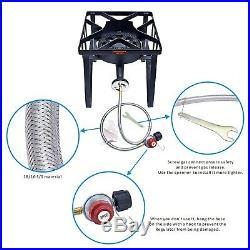 200,000 BTU Cast Iron Outdoor Camping Propane Burner Stove Portable Gas Cooker