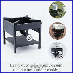 200,000 BTU Outdoor Camping Cast Iron High Pressure Propane Burner Gas Stove