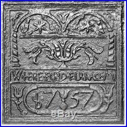 22.75 x 23 Hereford Stove Plate Fireback