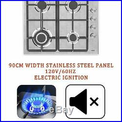 23 Stainless Steel Stove 4 Burners LPG Gas Built-in Stoves Cooktop Hob Cooker