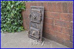 30.4 x 44.8 cm cast iron fire door clay bread oven doors pizza stove smoke house