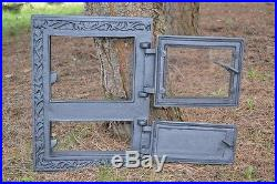 31,5x42,5 Cast iron fire door clay / bread oven / pizza stove smoke house DZ021