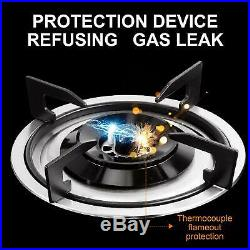 34 Stainless Steel Stove 5 Burners LPG Gas Built-in Stoves Cooktop Hob Cooker
