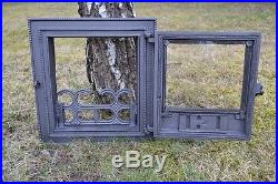35,5x38,5 Cast iron fire door clay / bread oven / pizza stove smoke house DZ026