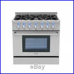 36 Gas Range 6 Burner Pro-Style Thor Kitchen