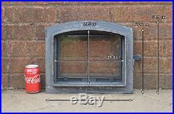 37 x 31.3 cm cast iron fire door clay bread oven doors pizza stove smoke house