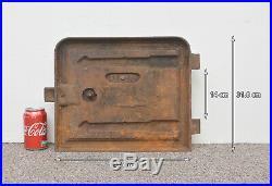 37 x 31.8 cm old cast iron fire bread oven door doors flue clay range pizza