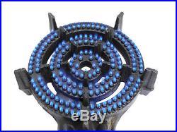 3 Ring LPG Gas Burner Cast Iron Cooker with Hose + Regulator BBQ Camp Stove Wok