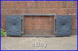 45 x 31.5 cm cast iron fire door clay / bread oven doors pizza stove fireplace