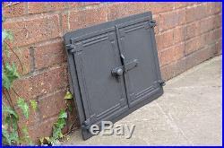 47.8 x 32.5 cm cast iron fire door clay / bread oven doors pizza stove fireplace