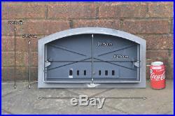 49 x 27.5 cm cast iron fire door clay bread oven doors pizza stove