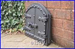 52.5 x 35.4 cm cast iron fire door clay bread oven pizza stove smoke house doors