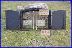 55,5x41cm Cast iron fire door clay / bread oven / pizza stove smoke house DZ017