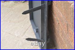 58.5 x 39.3 cm cast iron fire door clay bread oven doors pizza stove fireplace