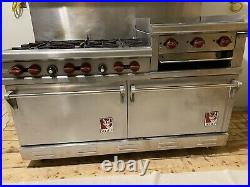 60 Wolf Range-Dual Ovens, 6 Cast iron burners and griddle