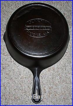 #8 Martin Stove & Range Co. Cast Iron Chicken Fryer & LID Hamburger Logo (htf)