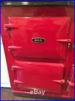 AGA Range Stove Black Ceramic cast iron 4 ovens. 39 wide 36 high 24 deep