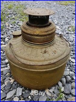 ANTIQUE BARLER'S IDEAL OIL HEATER #3 CAST IRON/SHEET METAL STOVE 24.5 Tall