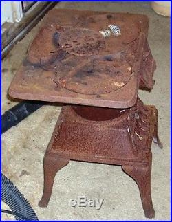 ANTIQUE CAST IRON LAUNDRY STOVE Midget Atlanta Stove Works Winters' here
