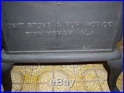 ANTIQUE CAST IRON STOVE-UNIT STOVE & FURNACE CO. Unit Glow No. 8 Birmingham, AL