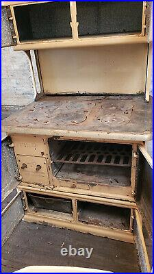 AntiqueEarly Foundry Company Cast Iron Coal Stove Oven, Griddle