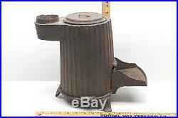 Antique 1865 Cast Iron 3 Leg Coal Stove with Lid Parlor Rail Car J. D. Lover N. Y