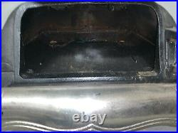 Antique 1870' Great Western Cast Iron Wood Burning Parlor Stove Free Shipping