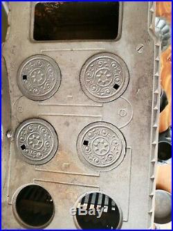 Antique 1895 Cast Iron Stove Eclipse Salesman Sample Victorian Oven $ Accs NICE
