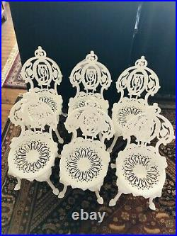 Antique 1900's Very Ornate Victorian Cast Garden Chairs By Atlanta Stove Works