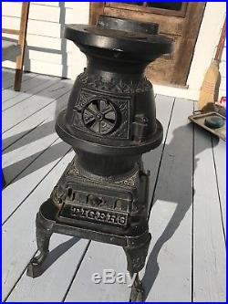 Wood Stoves For Sale >> Antique 1998 Cast Iron Caboose Railroad Wood Stove Tiger ...