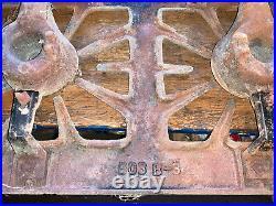 Antique Cast Iron 3 Burner Gas Stove Pearl Handle Rare