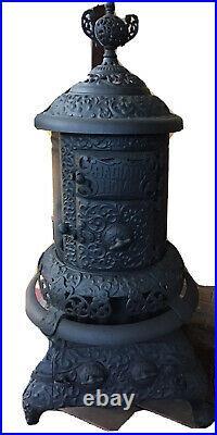 Antique Cast Iron Black Radiant Home Wood Burning Stove