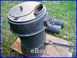 Antique Cast Iron Brooder Stove Farm-Master Chicken Parlor Planter Fall Decor