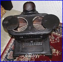 Antique Cast Iron Columbus 99 Franklin Wood Burning Stove