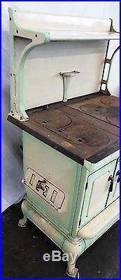 Antique Cast Iron Cook Stove-New Logic Monogram by Quincy Stove Mfg ca. 1934