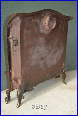 Antique Cast Iron Gas Heater Stove Fireplace Insert Victorian Edwardian