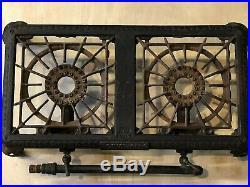 Antique Cast Iron No. 502 Orginal Griswold 2 Burner Stove Early 1900s Vintage