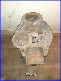 Antique Cast Iron Pot Belly Coal Wood Stove stuart & peterson phil Jewel#10 1860